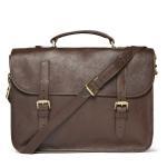 Best Dark Color Mens Leather Briefcase Bag For Laptop , Business Men Leather Messenger Bag wholesale