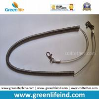 Best Heavy Duty High Pulling Wire Inside Plastic Spring Coiled Lanyard wholesale