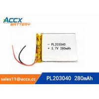 Best 203040pl 3.7v lithium polymer battery with 280mAh ultrathin lipo battery for medical product wholesale
