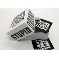 Best Professional Playing Cards Drunk Stoned Or Stupid Cards Game For 6 Player wholesale