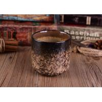 Best Leopard Print Transmutation Ceramic Candle Holder For Scent Candle , Round Bottom wholesale
