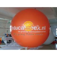 Best Orange Inflatable advertising helium balloon with UV protected printing, ad balloons wholesale