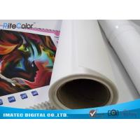 China Art Matte Polyester Fabric Roll Indoor Inkjet Large Format Canvas 30m Length on sale