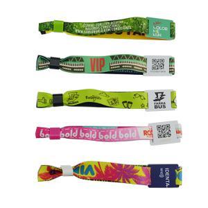 Best 13.56M Ultralight Custom Printing NFC Fabric Wristband festival wristbands for sale wholesale