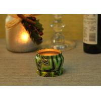 Best Eco Friendly Tin Candle Holders Anti Thermal Candle Wax Shock Resistant wholesale