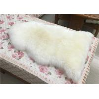 Best Real Sheepskin Rug Single Pelt Off White Color Supply Samples 90*60cm Eco-friendly wholesale