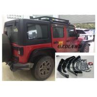 Best Jeep Wrangler Eyebrow 4 Doors , JK Crusher Wheel Arch Flares With Lights wholesale
