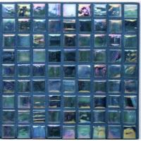 Quality Iridescent Swimming Pool Tile Blue Color Mix wholesale