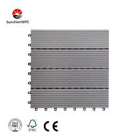 China Sunshien WPC durable and waterproof outdoor WPC interior DIY decking tile as your required on sale