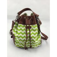 Best Green Wavy Bucket Crossbody Shoulder Bags Various Design With Closure Button wholesale