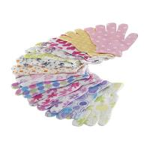 Best House Exfoliating Bath Mitt Body Wash Gloves Wave Pattern Printed wholesale