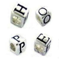 Best 925 Sterling Silver Alphabet Beads for Jewelry (AH0190) wholesale