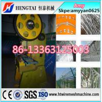 Quality ISO9001 CE Factory Full automatic razor barbed wire making machine nine strips wholesale