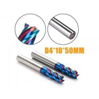 Best Helix Angle 45 Deg Solid Carbide Flat Indexable End Mill HRC65 4 Flutes Square End Mills wholesale