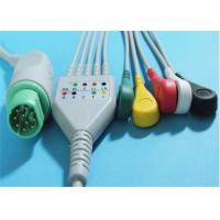 Best Siemens Drager 5 Lead ECG Patient Cable For Patient Monitor 10 Pin Connector wholesale