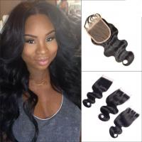 Best No Tangle Body Wave Lace Part Closure Brazilian Virgin Hair For White Girl wholesale