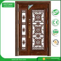 Best outside door house main gate designs metal security door residential steel door wholesale