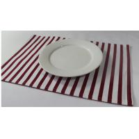 Best 100% Cotton Red And White Striped Placemats Dining Room Table Mats 250gsm wholesale