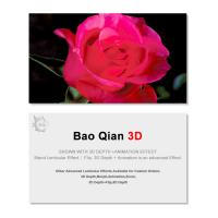 Best 0.6mm Thickness 89x68mm 3D Lenticular Card 3D Flip Changing Effect wholesale