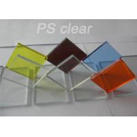 Best Indoor Clear Polystryrene Plastic Sign Board Heat / Electronically Resistant wholesale