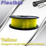 Best High Elasticity Yellow Flexible 3D Printer Filament 1.75 / 3.0 mm wholesale