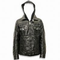 Best Men's PU Jacket in Fashionable Design, Available in Black wholesale