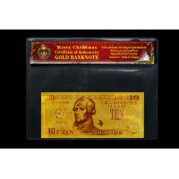 Best USA Gold Banknote 10Dollars 24k Pure Gold Selling Coming Chrismas Day wholesale