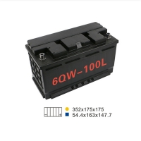 Best 88AH 680A 6 Qw 100L Start And Stop Car Battery 350*175*190mm For Agricultural Machine wholesale