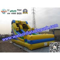 Best Kids Minions Inflatable Bouncy Slide / Inflatable Slide For Amusement Park wholesale