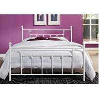 China Decorative Full Size Metal Beds , Double White Full Storage Bed Frame Platform on sale