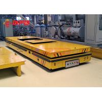 China Electric Orange Color Heavy Duty Plant Trailer For Cement Floor Q235 Material on sale