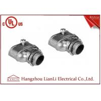 Cheap Galvanized Steel Flexible Conduit Fittings , Grey Zinc Die Casting Duplex Connector for sale