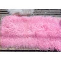 Best Mongolian Sheepskin Rug 100% Real Sheepskin Wool 60*120cm Dyed Pink Color Free Samples wholesale