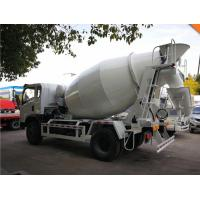 China 3 20M3 Mobile Concrete Mixer Truck With White , Black , Red Color on sale
