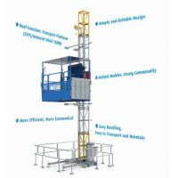 Cheap Construction Material / People Carrier Rack And Pinion Hoists CH750 Single Cage for sale