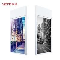 Cheap Aluminum Hanging Ultra Thin LCD Screen , LCD Digital Signage Display  Double Side for sale