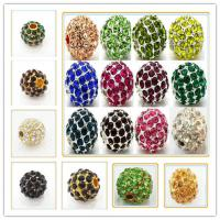 Best 10mm Rhinestone Multicolor Shamballa Crystal Alloy Pave Beads For Decoration wholesale