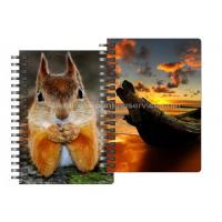 Best 0.6mm Thickness Plastic Cover Spiral 3D Lenticular Notebook 80 Pages A4/A5/A6 Size wholesale