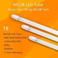 Best MCOB T8 LED Light Tube 18W(60W equivalent), 2430lm Energy Saving Fluorescent Tube Replacement wholesale