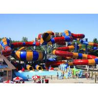Best Outdoor Giant Water Slide Tantrum Valley Space Bowl Colorful FRP Slide wholesale