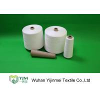 Best 50s/2/3 Counts Bright Virgin Spun Polyester Yarn With Sinopec Staple Fiber , High Tenacity wholesale