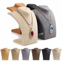 Best Russian Style Necklace Mannequin Stand 6 Colors Large Rope Wrapped Necklace Display wholesale