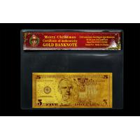 Best Gifts and Crafts Fake Currancy Paper Money United States Dollar 5 With Chrismas Coa Frame wholesale