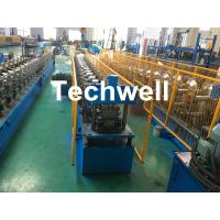 Best Forming Material PPGI , Aluminum Gutter Roll Forming Machine With Forming Speed 0-15m/min wholesale