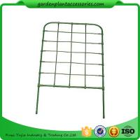 Cheap Green Color Plastic Coated Metal Freestanding Garden Flower Trellis For Climbing Plants for sale