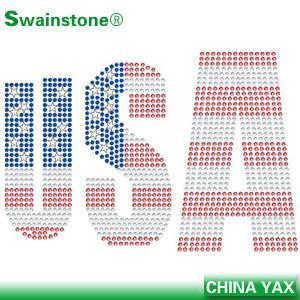 Best Bulk Price Heat Transfer Iron On Hot Fix American Rinestone Rhinstud Motif Design wholesale
