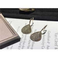 Best Glamorous 18K Gold Diamond Earrings For Company Annual Meeting / Party wholesale