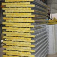 China lowes metal roofing cost insulated 960mm glass wool sandwich roof panel for roof on sale