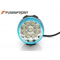 Best 3 Light Gears 9T6 Rechargeable Front Bike Light , CREE LED Bicycle Headlight wholesale