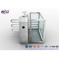 Best Fingerprint Reader Waist Height Turnstiles Stainless Steel Turnstyle Gate For Access Control wholesale
